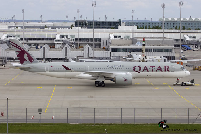 A7-ALE A350-941 8 Qatar Airways @ Munich Airport 15.05.2016  © Piti Spotter Club Verona