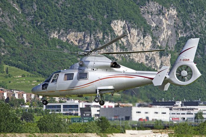 F-GVAR Aerospatiale SA-365F Dauphin AS65 @ Aeroporto di Trento © Piti Spotter Club Verona