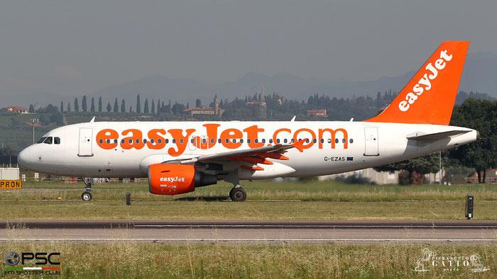 G-EZAS A319-111 2779 easyJet @ Aeroporto di Verona 30.06.2018  © Piti Spotter Club Verona