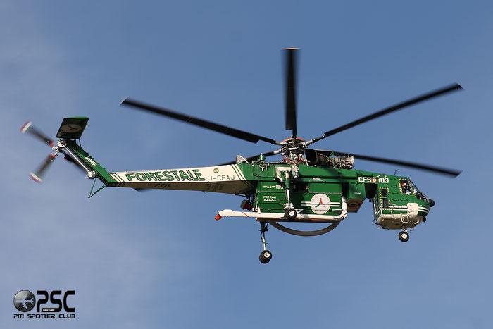 I-CFAJ CFS - Corpo Forestale dello Stato Sikorsky S-64F Skycrane @ Aeroporto di Verona © Piti Spotter Club Verona