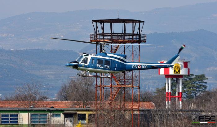 MM81657 PS-100 Polizia di Stato Helicopter Agusta AB212 Serial 5841