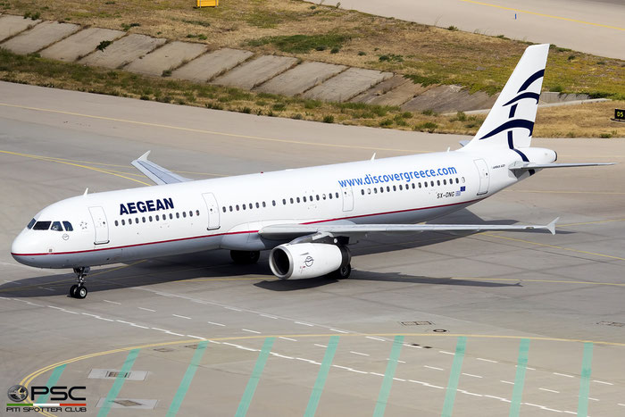 SX-DNG  A321-231  2610  Aegean Airlines  @ Athens 2019 © Piti Spotter Club Verona