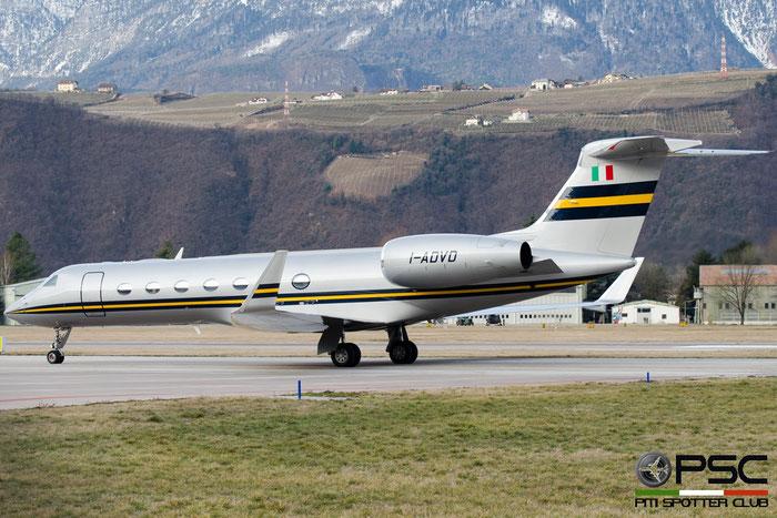 I-ADVD Gulfstream Aerospace GV-SP (G550) GLF5 5314 @ Aeroporto di Bolzano © Piti Spotter Club Verona