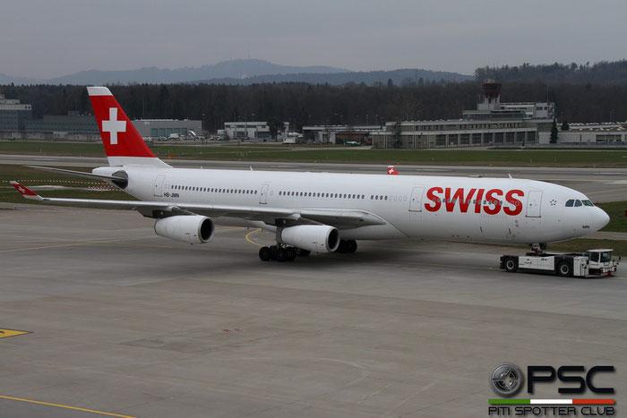 HB-JMN A340-313X 175 Swiss International Air Lines @ Zurich Airport 14.03.2016 © Piti Spotter Club Verona