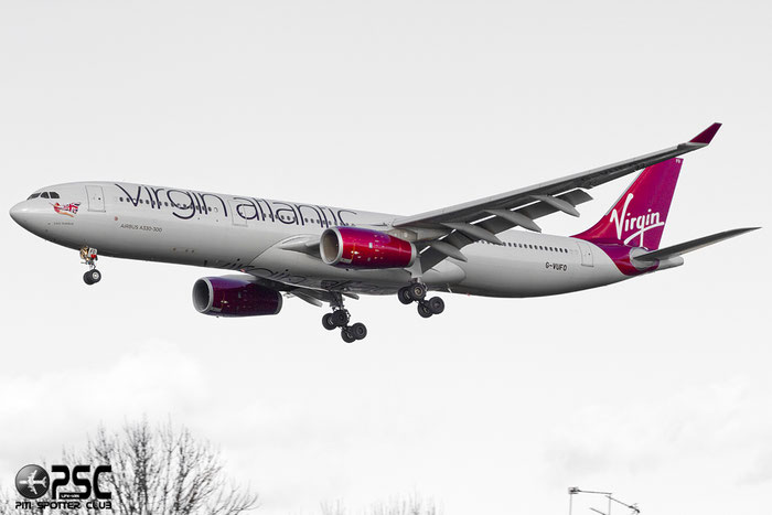 G-VUFO A330-343E 1352 Virgin Atlantic Airways @ London Heathrow Airport 07.02.2014 © Piti Spotter Club Verona