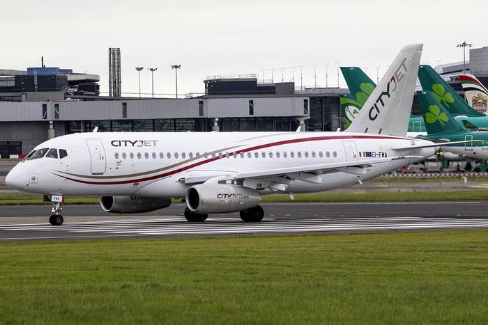 EI-FWA Cityjet Sukhoi Superjet 100 - cn 95102 @ Dublin Airport 14.08.2016 © Piti Spotter Club Verona