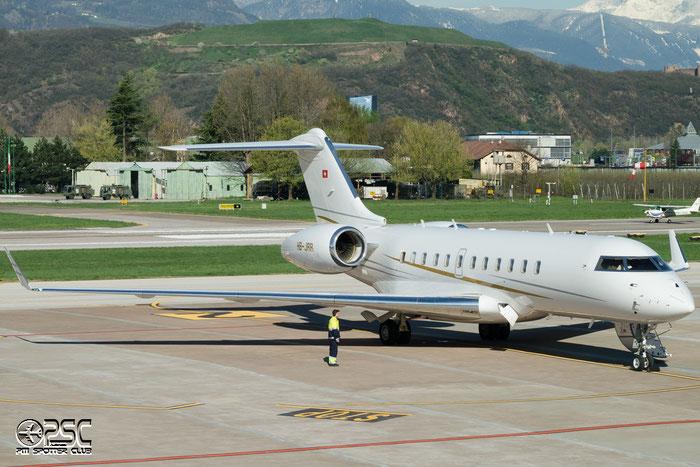 HB-JRR Global 5000 9198 Comlux Aviation @ Aeroporto di Bolzano © Piti Spotter Club Verona