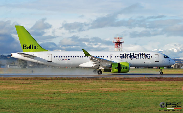 YL-CSE CS300 55007 airBaltic @ Aeroporto di Verona 12.2019  © Piti Spotter Club Verona