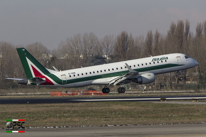 EI-RNB ERJ190STD 19000479 Alitalia CityLiner @ Milano Linate Airport 30.12.2014 © Piti Spotter Club Verona