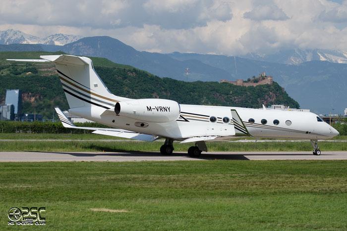 M-VRNY G550 5225 Virgin Limited @ Aeroporto di Bolzano © Piti Spotter Club Verona