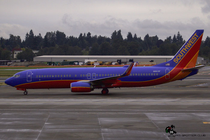N8619F B737-8H4 33939/4670 Southwest Airlines @ Seattle Tacoma Airport 25.09.2015 © Piti Spotter Club Verona