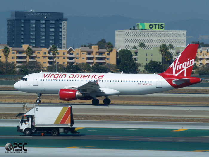 N623VA A320-214 2740 Virgin America @ Los Angeles International Airport 18.10.2013 © Piti Spotter Club Verona