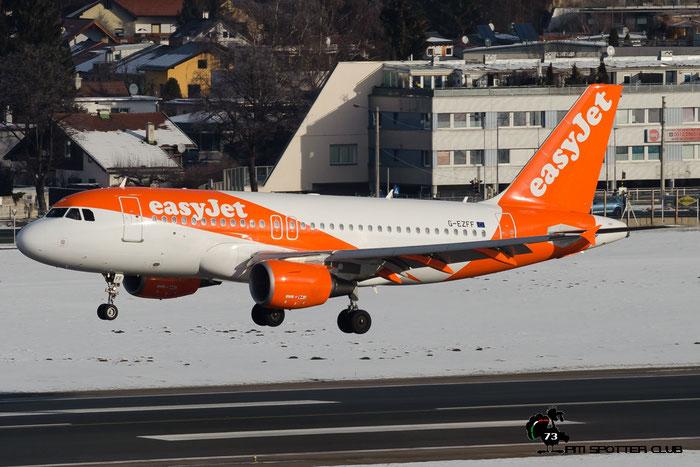 G-EZFF A319-111 3844 EasyJet Airline @ Innsbruck Airport 24.01.2016  © Piti Spotter Club Verona