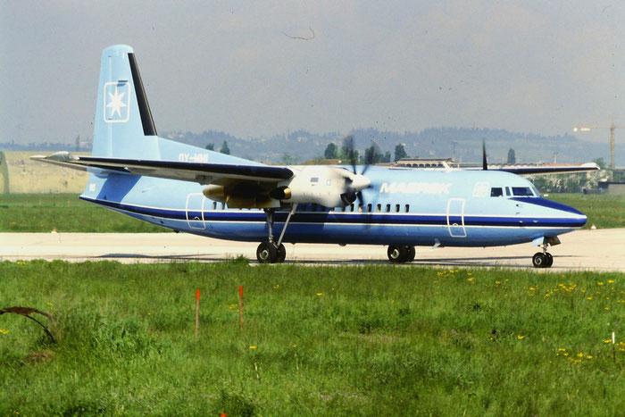 OY-MMI Fokker 50 20126 @ Aeroporto di Verona © Piti Spotter Club Verona
