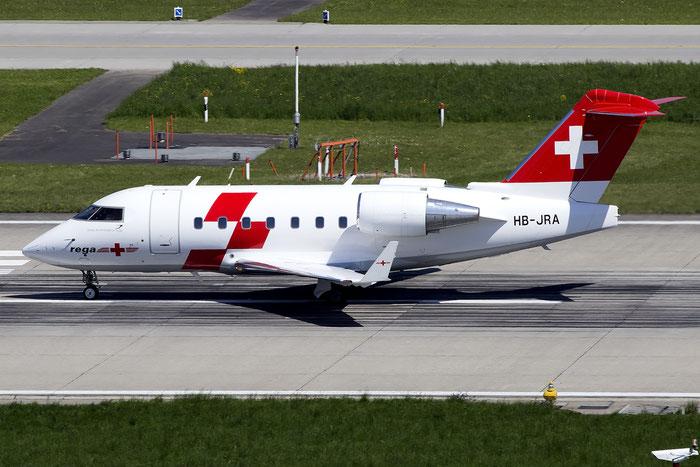 HB-JRA CL-604 5529 Swiss Air Ambulance @ Zurich Airport 05.2016 © Piti Spotter Club Verona