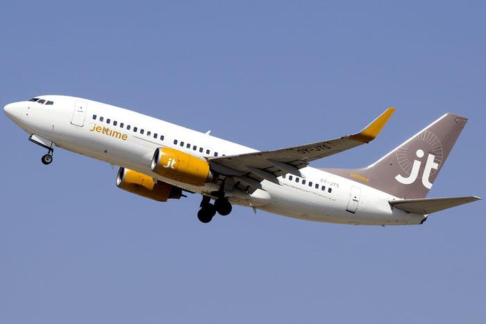 OY-JTS B737-7K2 33465/1316 Jet Time @ Heraklion Airport 07.2016 © Piti Spotter Club Verona