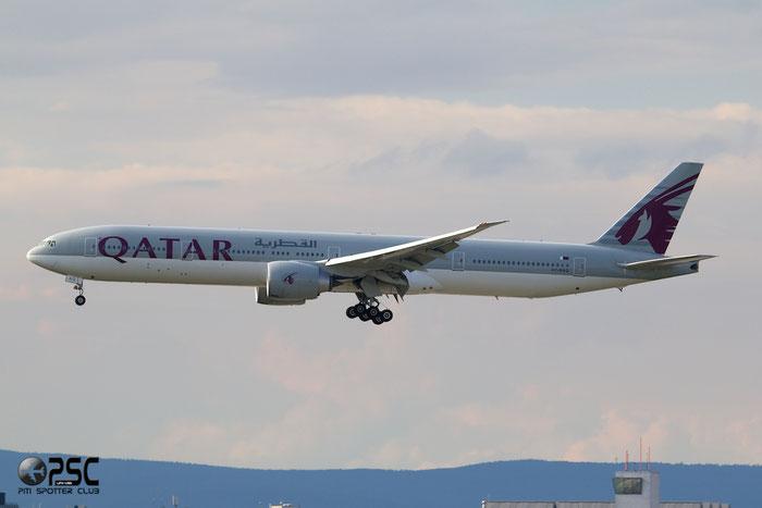 A7-BAQ B777-3DZER 38247/910 Qatar Airways @ Frankfurt Airport 25.07.2014  © Piti Spotter Club Verona