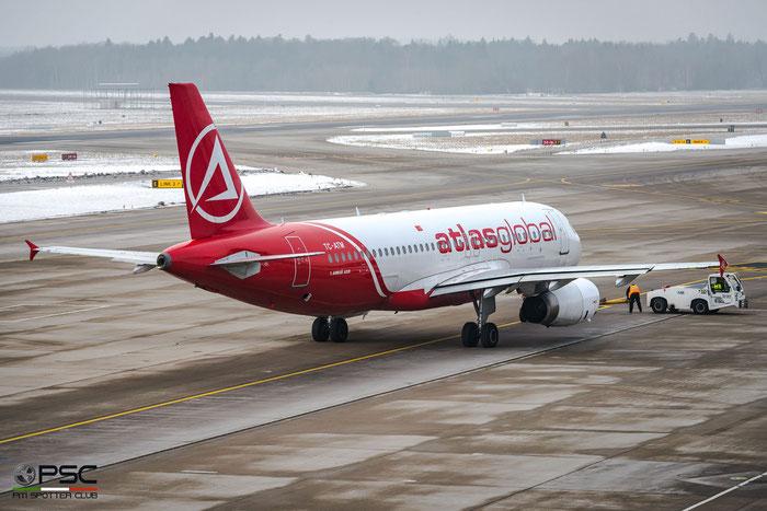TC-ATM A320-232 2753 AtlasGlobal @ Zurich Airport 21.01.2017 © Piti Spotter Club Verona