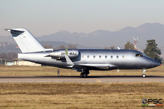 9H-MAJ CL-604 5508 Elit'Avia Malta @ Aeroporto di Verona - 26.12.2016  © Piti Spotter Club Verona