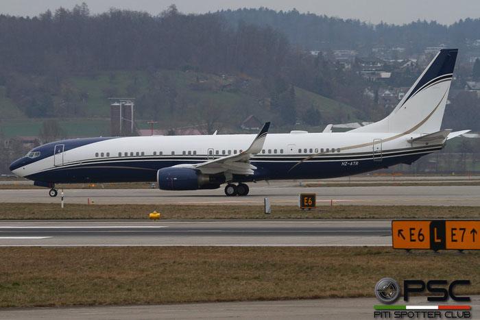 HZ-ATR B737-9FGER (BBJ3) 39317/3219 Al-Atheer Aviation @ Zurich Airport 14.03.2016 © Piti Spotter Club Verona