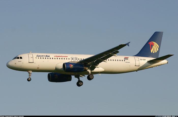 SU-GBA A320-231 165 Egypt Air @ Aeroporto di Verona © Piti Spotter Club Verona
