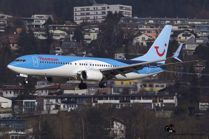 G-FDZW B737-8K5 37254/3586 Thomson Airways @ Innsbruck Airport 09.01.2016 © Piti Spotter Club Verona