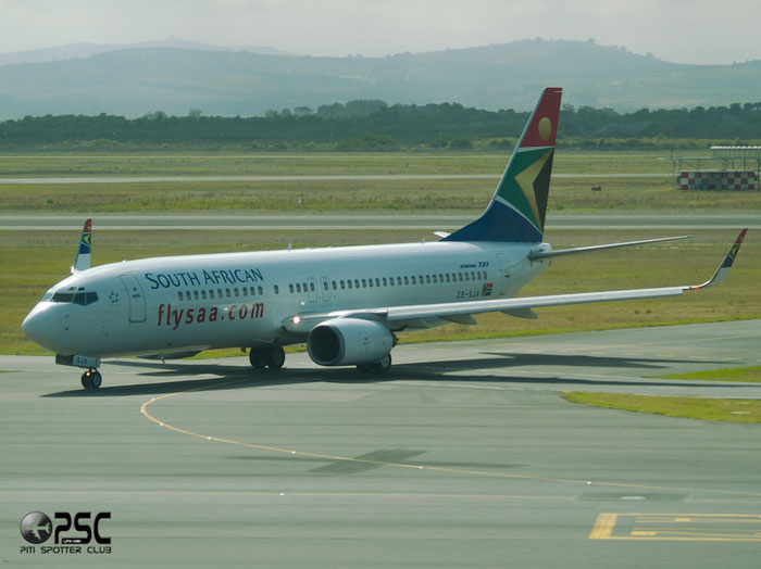 ZS-SJA B737-8S3 29248/561 South African Airways @ Cape Town Airport 22.03.2014 © Piti Spotter Club Verona