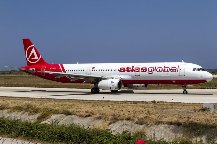 TC-ETF A321-231 1438 AtlasGlobal @ Rhodes Airport 07.2015 © Piti Spotter Club Verona