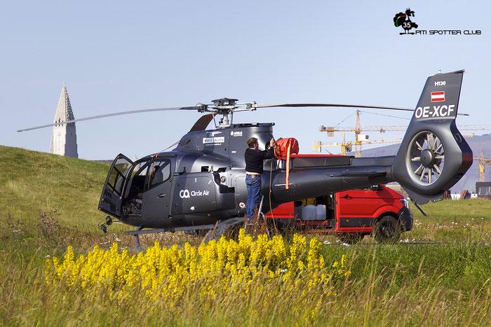 OE-XCF. Eurocopter EC130T2 ( c/n 8164 ) @ Reykjavik 08.2019 © Piti Spotter Club Verona