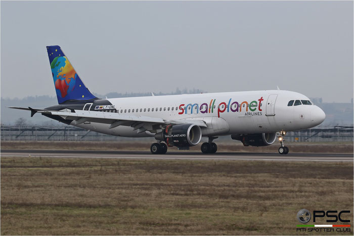 LY-ONL A320-214 4489 Small Planet Airlines @ Aeroporto di Verona 04.03.2017  © Piti Spotter Club Verona
