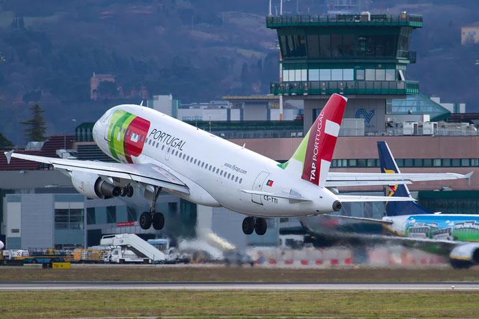 CS-TTI A319-111 933 TAP Portugal - Transportes Aéreos Portugueses @ Bologna Airport 12.02.2016 © Piti Spotter Club Verona