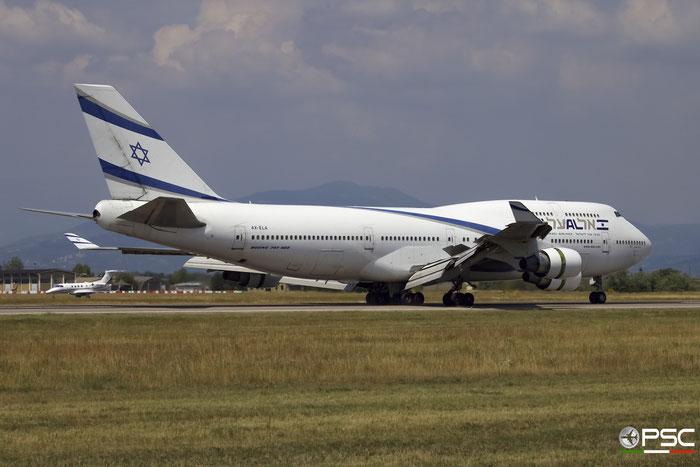 4X-ELA B747-458 26055/1027 El Al Israel Airlines @ Aeroporto di Verona 29.07.2017  © Piti Spotter Club Verona