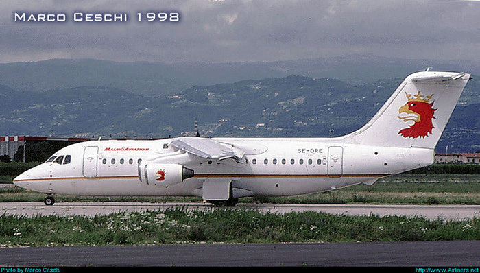 SE-DRE BAe146-200A E2051 Malmö Aviation @ Aeroporto di Verona © Piti Spotter Club Verona