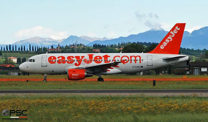 G-EZBD A319-111 2873 easyJet @ Aeroporto di Verona 04.2019  © Piti Spotter Club Verona