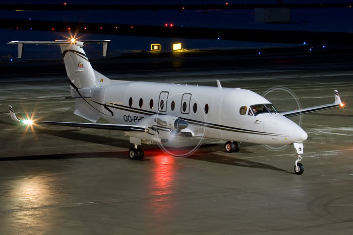 OO-PHB Beech 1900D UE-106 ASL - Air Service Liège @ Innsbruck Airport 26.01.2013 © Piti Spotter Club Verona