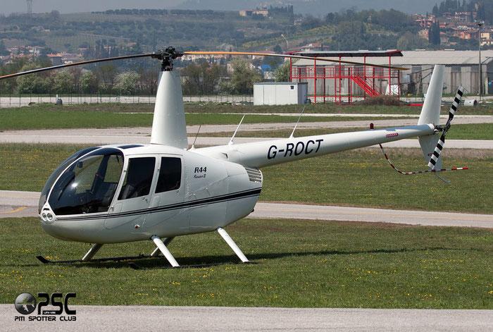 G-ROCT Robinson Helicopter Co R44 Raven II R44 11854 Colin Russell Turton @ Aeroporto Verona Boscomantico © Piti Spotter Club Verona