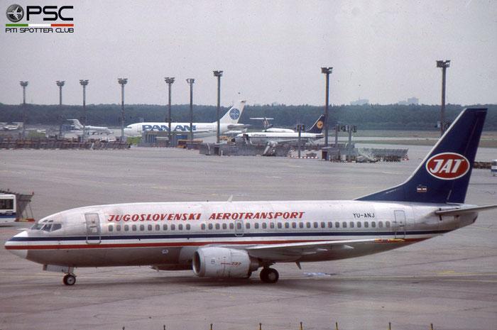 YU-ANJ B737-3H9 23714/1305 JAT Yugoslav Airlines - Jugoslovenski Aerotransport © 2018 courtesy of Marco Ceschi - Piti Spotter Club Verona