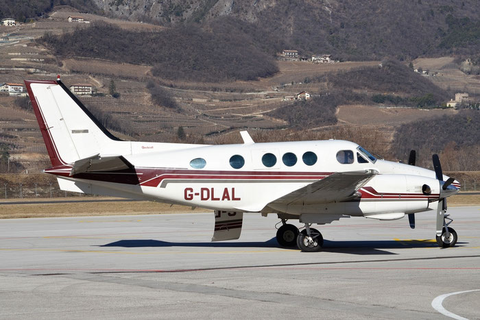 G-DLAL Beech E90 LW-187 Aerodynamics Ltd. @ Aeroporto di Trento © Piti Spotter Club Verona