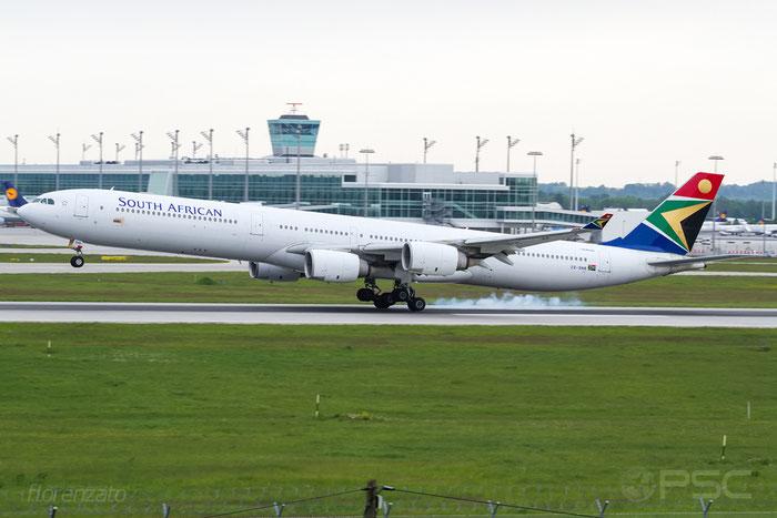 ZS-SNB A340-642 417 South African Airways @ Munich Airport 15.05.2016 © Piti Spotter Club Verona