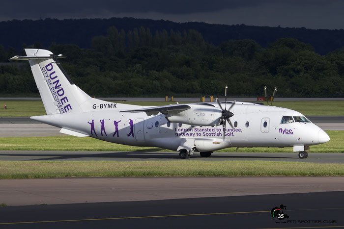 G-BYMK Do328-110 3062 Loganair  opf Flybe @ Manchester Airport 21.06.2015  © Piti Spotter Club Verona