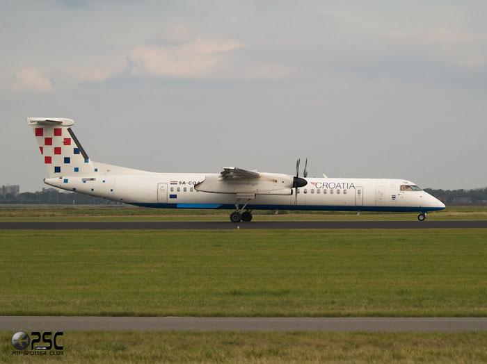 9A-CQA DHC-8-402 4205 Croatia Airlines @ Amsterdam Airport 20.09.2013 © Piti Spotter Club Verona