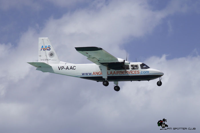 VP-AAC BN-2 919 Anguilla Air Services @ Sint Maarten Airport 05.03.2016 © Piti Spotter Club Verona