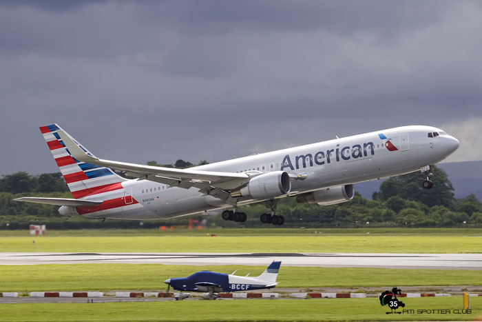N380AN B767-323ER 25449/489 American Airlines @ Manchester Airport 21.06.2015 © Piti Spotter Club Verona