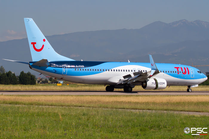 G-FDZB B737-8K5 35131/2242 TUI Airways @ Aeroporto di Verona 30.06.2018  © Piti Spotter Club Verona