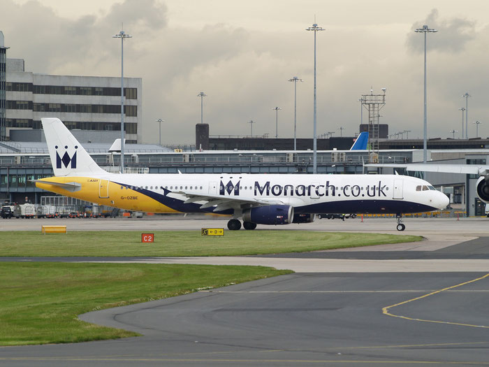 G-OZBE A321-231 1707 Monarch Airlines @ Manchester Airport 20.07.2012 © Piti Spotter Club Verona