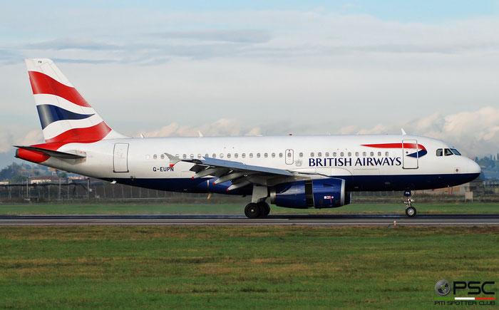 G-EUPN A319-131 1261 British Airways @ Aeroporto di Verona 12.2019  © Piti Spotter Club Verona