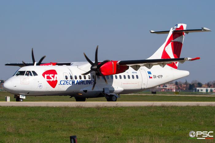 OK-KFP ATR42-500 639 CSA Czech Airlines @ Bologna Airport 03.2018 © Piti Spotter Club Verona