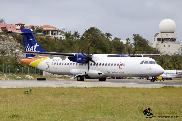 V2-LIH ATR72-212A 1112 LIAT - Leeward Islands Air Transport Services @ Sint Maarten Airport 05.03.2016 © Piti Spotter Club Verona
