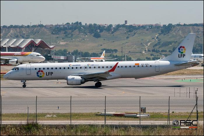 EC-KRJ ERJ195LR 19000196 Air Europa @ Madrid Airport 2011 © Piti Spotter Club Verona