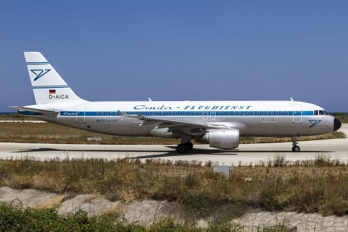 D-AICA A320-212 774 Condor Flugdienst @ Rhodes Airport 05.07.2015 © Piti Spotter Club Verona